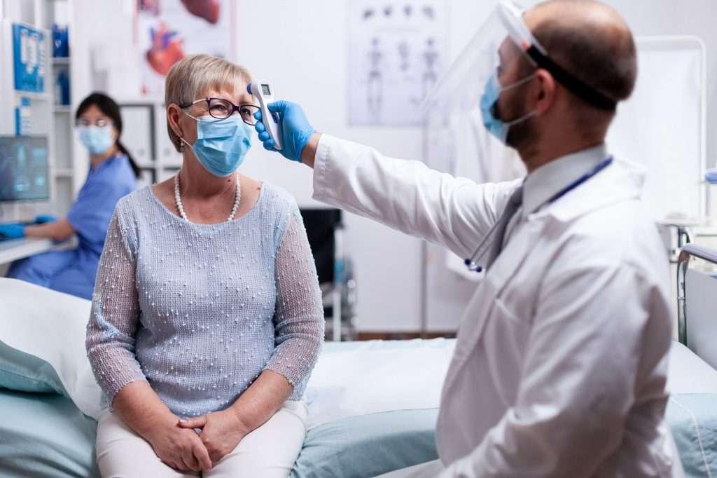 Checking patient temperature